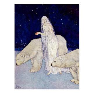 Carte postale : La jeune fille de neige