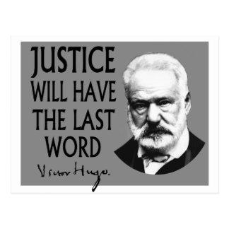 Carte Postale La justice aura le dernier mot