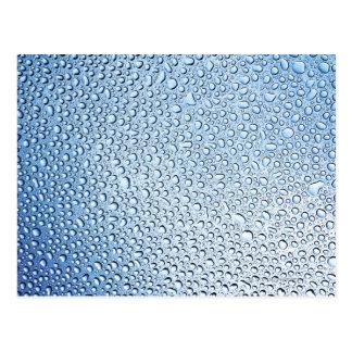 Carte Postale La légèreté changeante de l'eau chute sur le verre