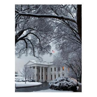Carte Postale La Maison Blanche du pays des merveilles d'hiver