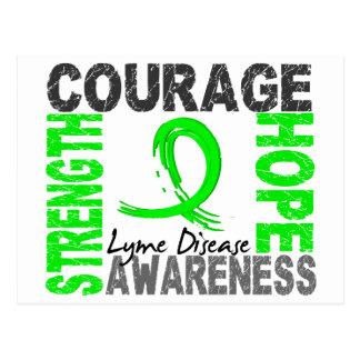 Carte Postale La maladie de Lyme d'espoir de courage de force