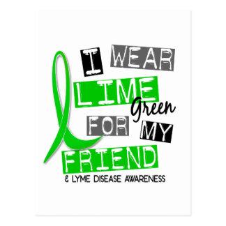 Carte Postale La maladie de Lyme je porte le vert de chaux pour