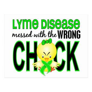 Carte Postale La maladie de Lyme salie avec le poussin faux