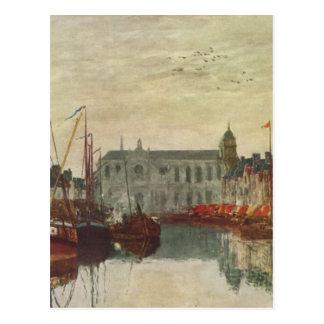 Carte Postale La Manche à Bruxelles par Eugene Boudin