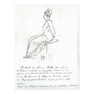 Carte Postale La manière de Marie-Antoinette à son exécution
