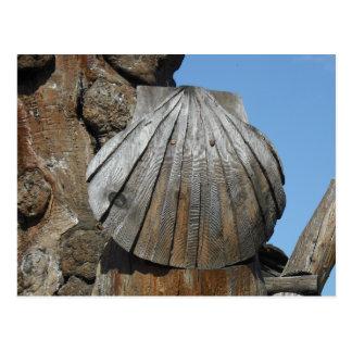 Carte Postale La manière du marqueur en bois de feston de St