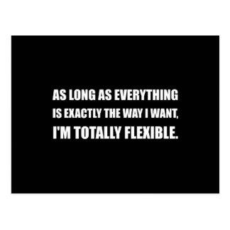 Carte Postale La manière je veux totalement flexible