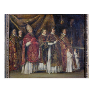 Carte Postale La masse pontificale ou, le cortège