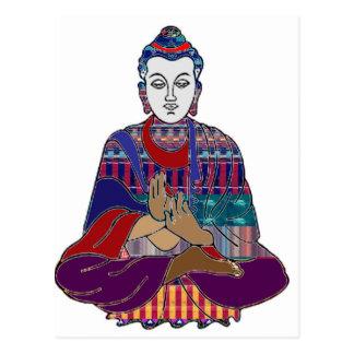 Carte Postale La méditation de yoga de Chakra maîtrise le CADEAU