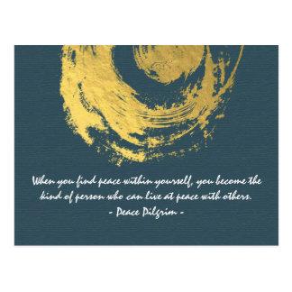 Carte Postale La méditation de yoga de Namaste cite le signe