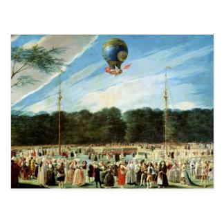 Carte Postale La montée du ballon de Montgolfier à