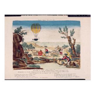 Carte Postale La montgolfière en Jean Pierre Blanchard