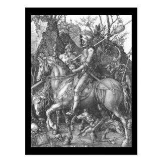 Carte Postale La mort de chevalier d'Albrecht Durer et le diable