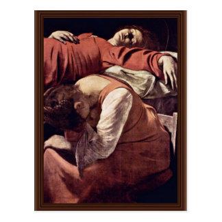 Carte Postale La mort du petit groupe de Vierge par Michaël