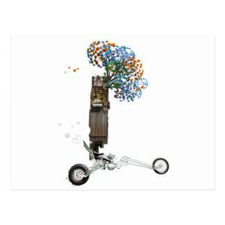 Carte Postale La moto de couperet de cabane dans un arbre