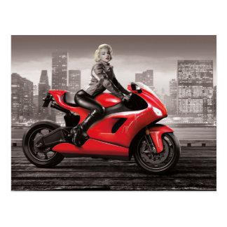 Carte Postale La moto de Marilyn