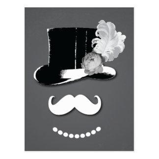 Carte Postale La moustache blanche, le casquette supérieur,
