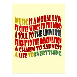 Carte Postale La musique est une loi morale