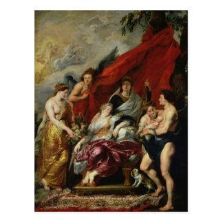 Carte Postale La naissance de Louis XIII à Fontainebleau