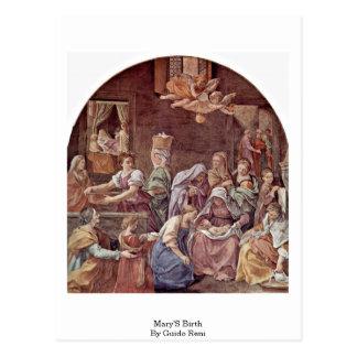 Carte Postale La naissance de Mary par Guido Reni