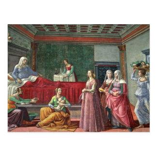 Carte Postale La naissance de St John le baptiste (fresque)