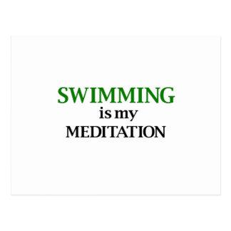 Carte Postale La natation est ma méditation