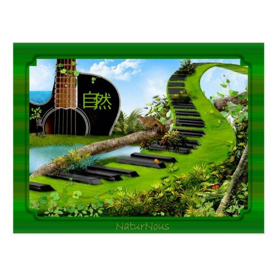 carte postale la nature en musique 自然
