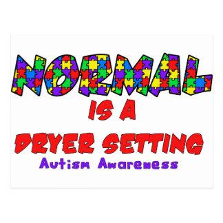 Carte Postale La normale d'autisme est un arrangement plus sec