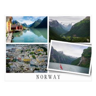 Carte Postale La Norvège aménage le collage en parc avec l'image