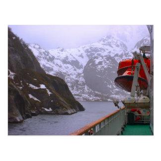 Carte Postale La Norvège, Fijord du vapeur de courrier