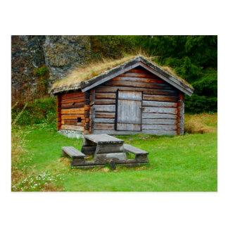 Carte Postale La Norvège, la hutte de l'agriculteur