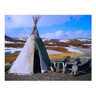 Carte Postale La Norvège, Laponie, règlement de Sami