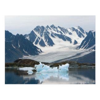 Carte Postale La Norvège, le glacier de recul et l'iceberg