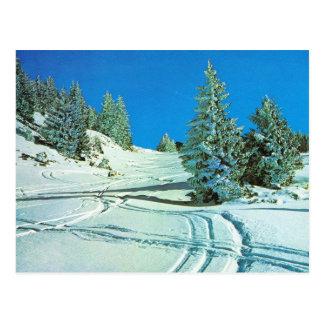 Carte Postale La Norvège vintage, hiver dans les montagnes