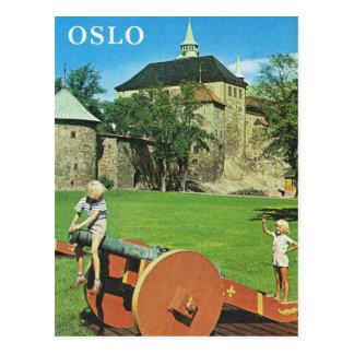 Carte Postale La Norvège vintage, Oslo, fortifications
