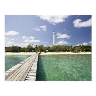 Carte Postale La Nouvelle-Calédonie, îlot d'Amedee. Pilier