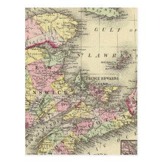 Carte Postale La Nouvelle-Écosse, Nouveau Brunswick,