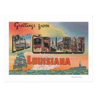 Carte Postale La Nouvelle-Orléans, Louisiane - grandes scènes de