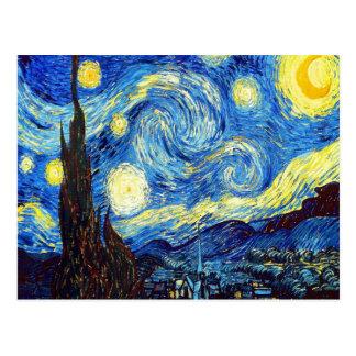 Carte Postale La nuit étoilée par Vincent van Gogh 1889
