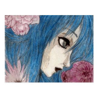 Carte Postale La nymphe bleue