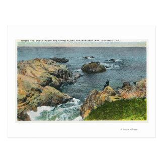 Carte Postale Là où l'océan rencontre le rivage