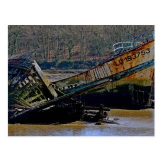 Carte Postale Là où vieux les bateaux vont se retirer