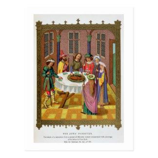 Carte Postale La pâque des juifs, télécopie d'un XVème siècle MI