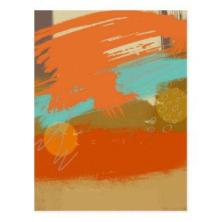 Carte Postale La peinture abstraite d'art de paysage entoure des