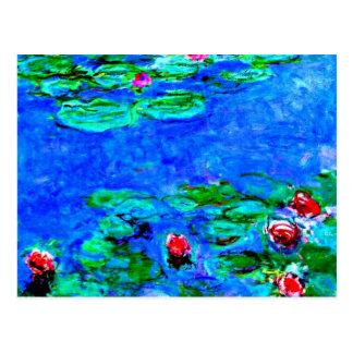 Carte Postale La peinture célèbre de Monet, nénuphars (macro