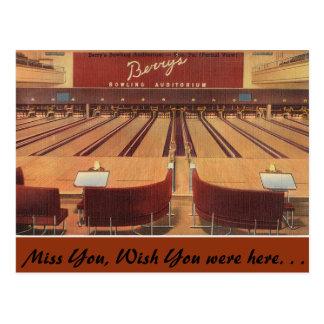 Carte Postale La Pennsylvanie, le bowling de la baie, Erie