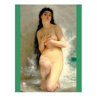 Carte Postale La perle par Bouguereau