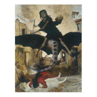 Carte Postale La peste par Arnold Böcklin