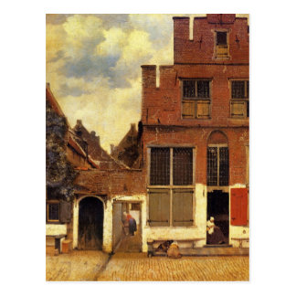 Carte Postale La petite rue par Johannes Vermeer