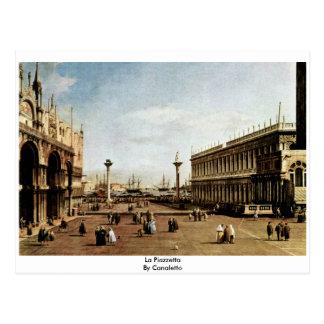 Carte Postale La Piazzetta par Canaletto